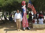 Terry Meyering and Uncle Sam at 2014