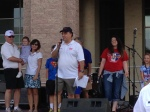 Mayor Maso speaking at Frisco Freedom Fest