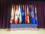 The Flags that were presented to the Students