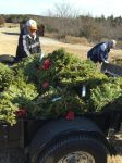 Picking up wreaths at DFW National - Jan 21, 2015