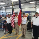 Our color guard with Wylie AL Post at Wylie Caliber Collision Recycled Ride ceremony on May 7