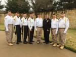 D/FW National Cemetery on March 11, 2016 at the funeral of Past Post Commander of Post 13