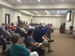 Mike Strand conducting the Boys State Orientation on 5/23 at the Frisco ISD Training facility