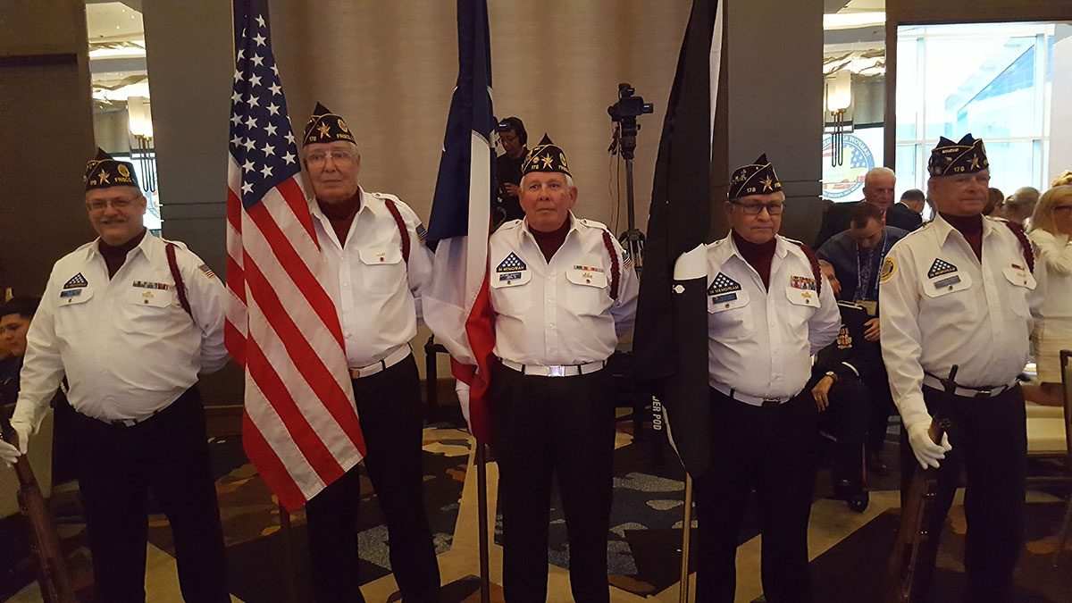 Presenting the Colors at the 2018 NAMPOW
