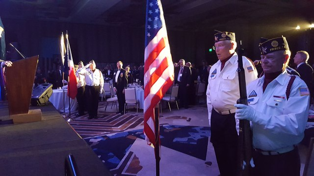 2018 NAMPOW Color Guard Posting the Colors