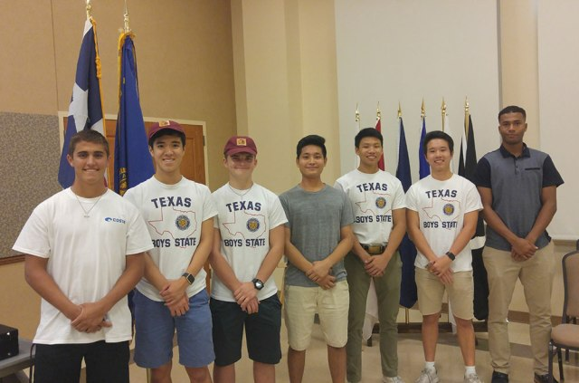 Boys State Delegates Aug 16, 2018 Meeting
