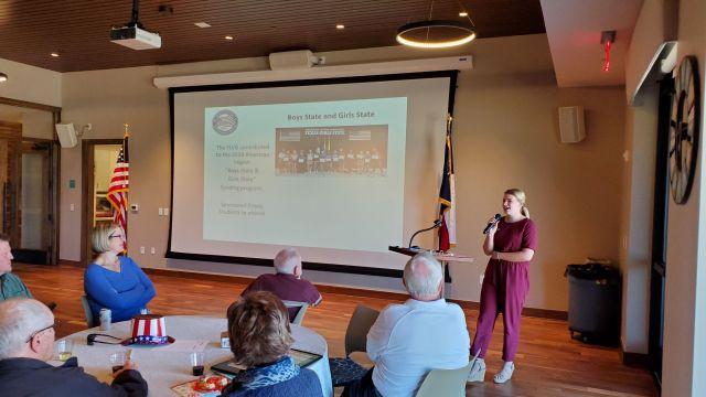Karlene Stelling at Frisco Lakes Veterans Group