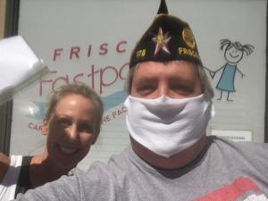 Frisco Fastpacks Mask Distribution
